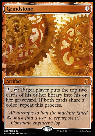 Mtg Grindstone Color Now that painter's servant is unbanned, i can't wait for some sweet janky shenanigans, and general value combos like with balthor the defiled. mtg grindstone color